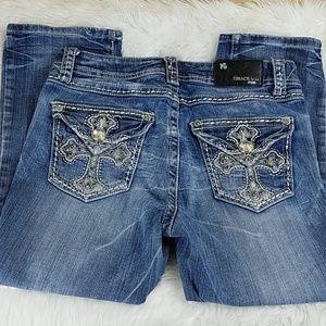 Grace in LA Denim Capri Cropped Jeans 9M Easy Fit